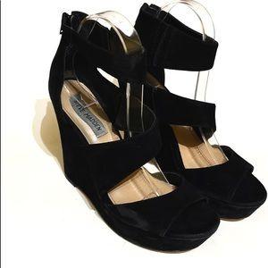 Steve Madden Essex Leather Wedge Sandal Size 7.5